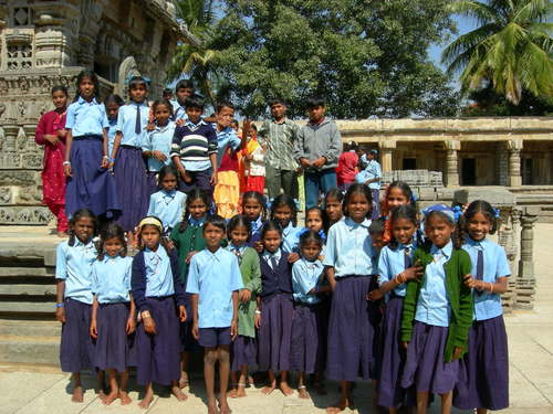 School class at temple