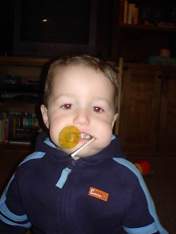 Declan likes lollies